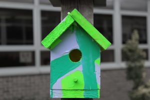 High Contrast Birdhouse